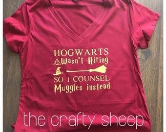 Hogwarts/Counsel Muggles or Teach Muggles T-shirt