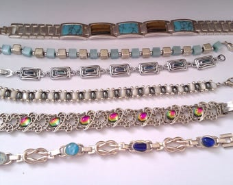 collection of 6 bracelets