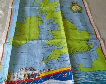 vintage RLNI tea towel unused condition.