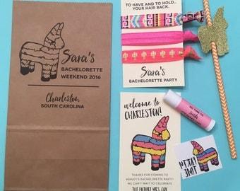 bachelorette party favor packs // fiesta // custom