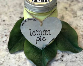 Lemon pie 100% soy wax candle