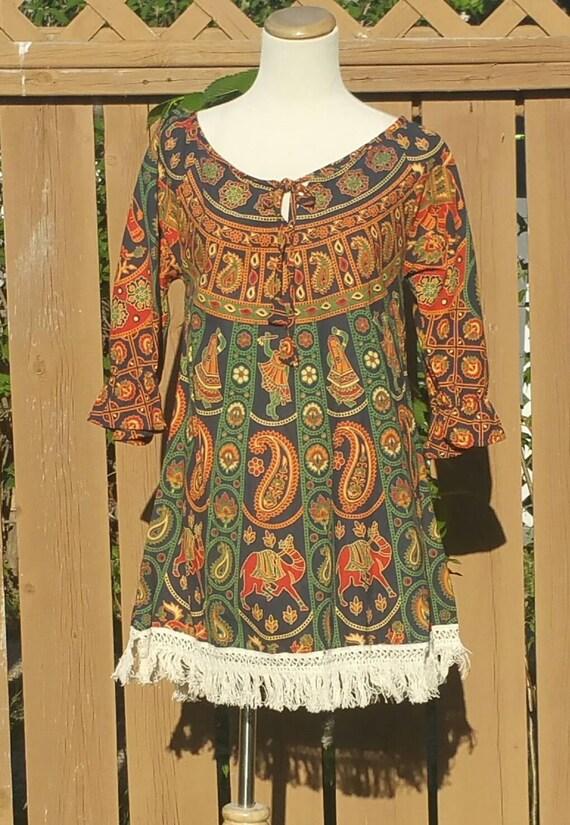 Bohemian Tops, Ethnic Tunics, Mandala Tops, Women tops, Boho Tunic, Cotton tunic, Ethnic Tops, hippie top, Tassel tunic, Gypsy tunic