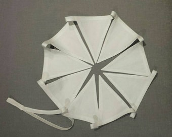 Bunting - Made to Order White Cotton