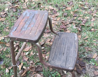 Vintage Stepping Stool, Chair, Industrial Step Ladder, Retro Decor, Kids Stool, a Bathroom Stool