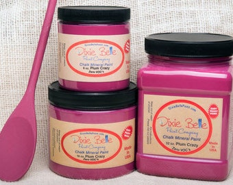 Pink Chalk Paint, Plum Crazy, Girly Paint, Dixie Belle,  -2ND Item Ships FOR FREE