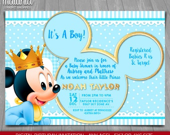 mickey baby shower  etsy, Baby shower