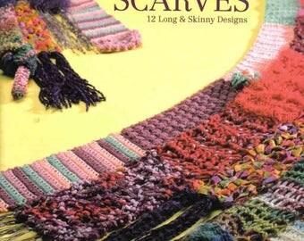 Crochet scarves Long crochet scarf Pdf file Flower scarf