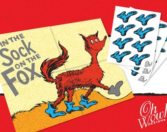 Dr. Seuss Pin the Sock on the Fox: Digital File