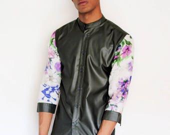Floral sleeve shirt