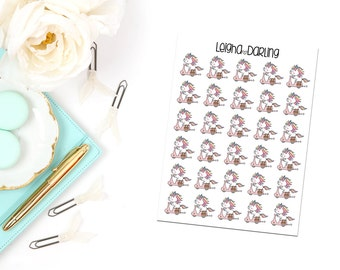 Scooter Unicorn Planner Stickers