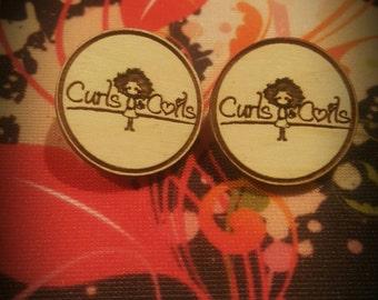 Custom Curls and Coils Earrings