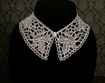 SALE! Gothic collar necklace // Wednesday Addams collar // detachable collar // Peter Pan collar // white lace collar // white collar