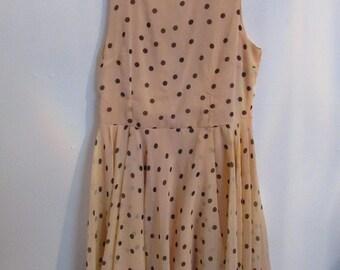 Blush and Black Polka Dot Skater Dress