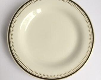 Syracuse China, Syralite, 4 gold and black plates