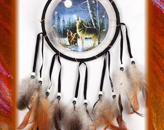 Wolf Handmade Dream Catcher