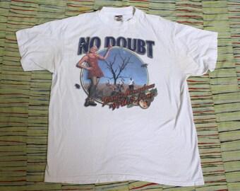 Vintage 1997 No Doubt Gwen Stefani Tragic Kingdom American Tour T Shirt, Size XL