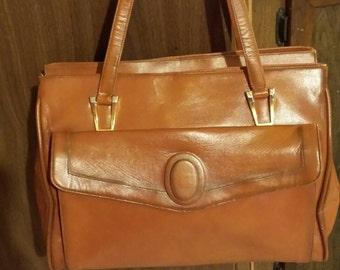 1970s leather Lou Taylor Handbag Ships Free