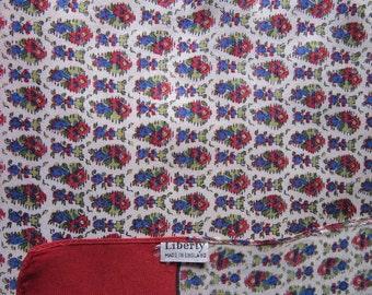 LIBERTY vintage cloth label foulard silk twill scarf