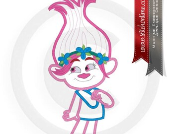 1 Big Hair : Big Hair Girl Troll Applique 3 Hoop Sizes Inc. Embroidery Design