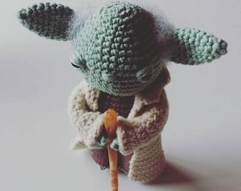 Amigurumi Maestro Yoda : Yoda Crochet Pattern. Star Wars Crochet Pattern. Baby Yoda