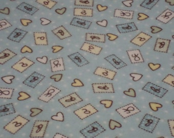 Nursery Flannel Fabric / Baby Flannel Fabric/ Flannel Fabric / 2 Yards