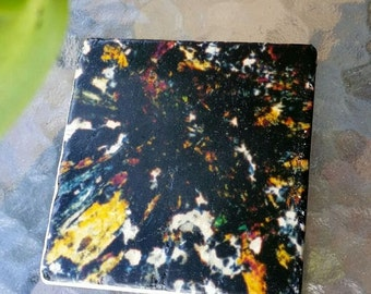 Mineral Photo Custom Feature Tiles - Epidote and Quartz - Thin Section Mineral Photography - Art and Science  - Australian Minerals