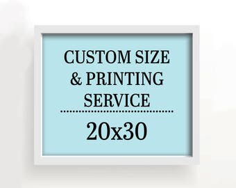 20x30 art print - custom printing services