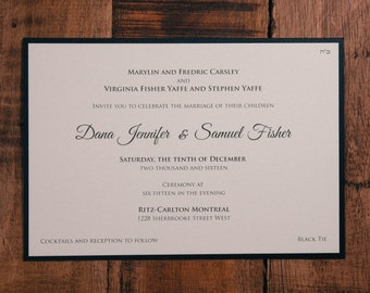 Traditional Wedding Invitation, Black And White Wedding Invitations, Black And White Invitation, Black And White Invitations, Invitation