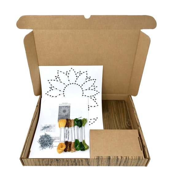 Sunflower string art kit diy kit crafts for adults diy for Craft kit for adults