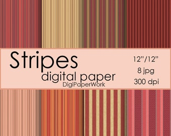 Stripe digital paper streaks Instant download Scrapbook Paper Digital stripe background streaks pattern for Personal and Commercial use
