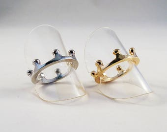 SP05 - beautiful ring Support reason Crown Royal Princess silver or gold / Royal Crown Princess Design Silver Gold Gold Ring