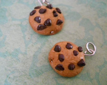 Polymer clay chocolate chip cookie charm/bracelet/earrings/keychain