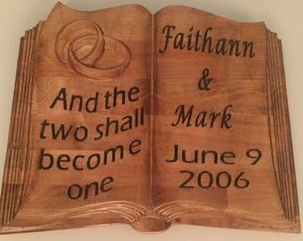 Wedding, Anniversary, Special Occasion, Unique Gift Plaque