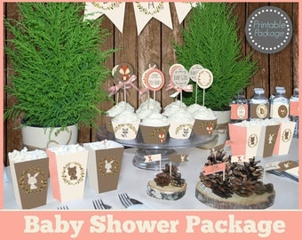woodland baby shower decorations animal baby shower decors girl baby