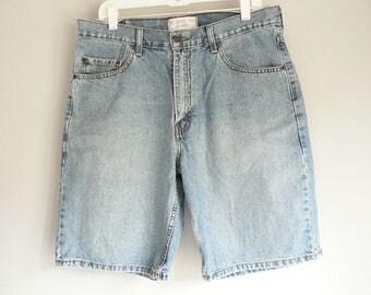 Mens 34 Vintage Levi Jean Bermuda Shorts
