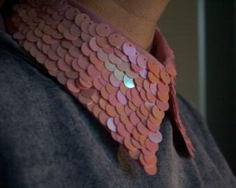 Pink sequin Collar.