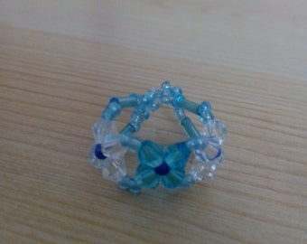 Ring made by hand with rockery
