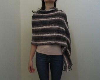 Crochet Shawl, Rectangular Crochet Shawl, ND0066
