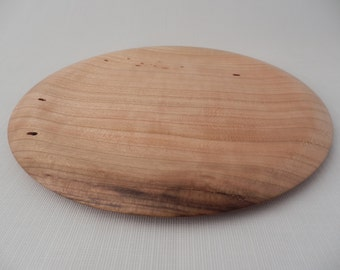 Small Wooden Cherry Platter Wormy Handmade