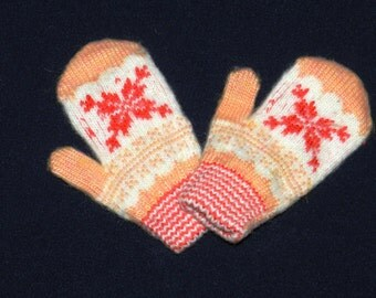 wool gloves, Mittens from angora wool, warm Mittens , knitted Mittens , children's mittens, wool mittens