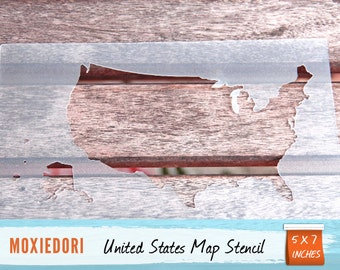 Map Stencil Etsy - Us map stencil