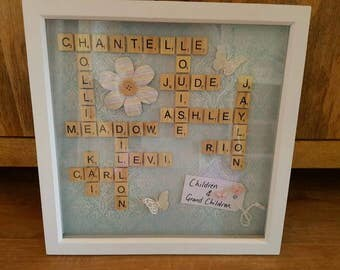Family tree scrabble frames