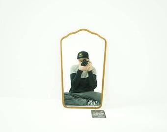 308-169.19 Danish Mid Century Modern Teak Framed Wall Mirror