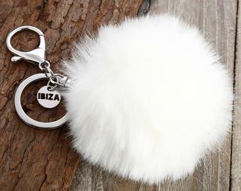Furry Keychain // Fur Keychain // Faux Fur Keychain // Pom Pom Keychain // Furry Key Chain // Fake Fur Keychain // Pom Pom Fob