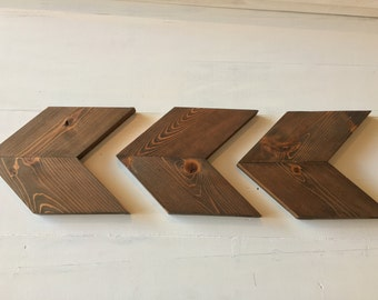 Rustic Wooden Chevron Arrows