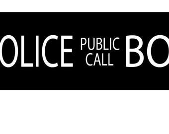 Police Box Public Call/Home Decor/British Police Box/Tardis Sign