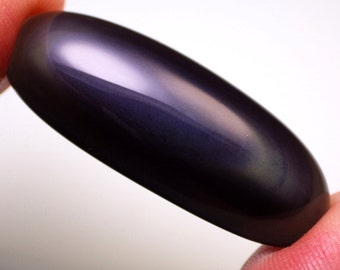 Rainbow Sheen Obsidian-California 22.75 Ct Very Large-Highly Valued American Exotic Gemstone-Read!