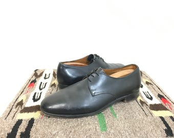vintage church's black leather dress shoes made in england mens size 7