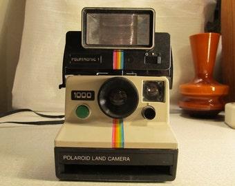 Polaroid 1000 Camera + Polatronic 1 Flash