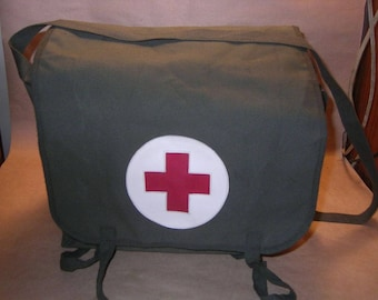 Vintage Yugoslavian Army Medical Bag Red Cross
